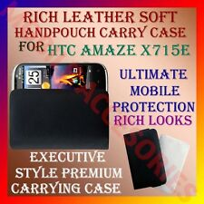 ACM-RICH LEATHER SOFT CARRY CASE for HTC AMAZE X715e MOBILE HANDPOUCH COVER CASE