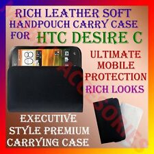 ACM-RICH LEATHER SOFT CARRY CASE for HTC DESIRE C MOBILE HANDPOUCH COVER POUCH