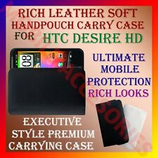ACM-RICH LEATHER SOFT CARRY CASE for HTC DESIRE HD MOBILE HANDPOUCH COVER POUCH