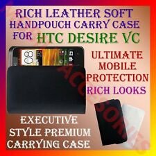 ACM-RICH LEATHER SOFT CARRY CASE for HTC DESIRE VC MOBILE HANDPOUCH COVER POUCH