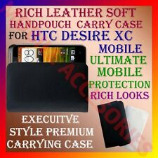 ACM-RICH LEATHER SOFT CARRY CASE for HTC DESIRE XC MOBILE HANDPOUCH COVER POUCH