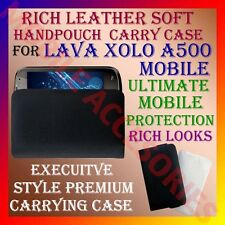 ACM-RICH LEATHER SOFT CARRY CASE for LAVA XOLO A500 MOBILE HANDPOUCH COVER POUCH