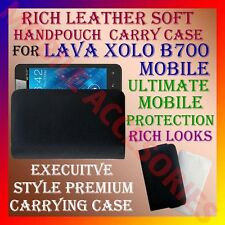 ACM-RICH LEATHER SOFT CARRY CASE for LAVA XOLO B700 MOBILE HANDPOUCH COVER POUCH