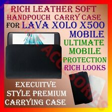 ACM-RICH LEATHER SOFT CARRY CASE for LAVA XOLO X500 MOBILE HANDPOUCH COVER POUCH