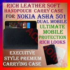 ACM-RICH LEATHER SOFT CARRY CASE for NOKIA ASHA 501 MOBILE HANDPOUCH COVER POUCH