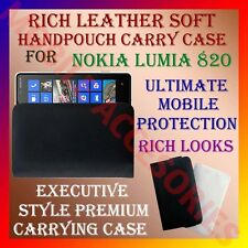 ACM-RICH LEATHER SOFT CARRY CASE for NOKIA LUMIA 820 MOBILE HANDPOUCH COVER NEW