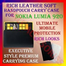 ACM-RICH LEATHER SOFT CARRY CASE for NOKIA LUMIA 920 HANDPOUCH COVER PROTECT NEW