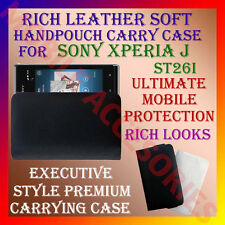 ACM-RICH LEATHER CARRY CASE for SONY ERICSSON XPERIA J ST26i HANDPOUCH COVER NEW
