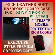 ACM-RICH LEATHER SOFT CARRY CASE for SONY XPERIA SL LT26ii HANDPOUCH COVER POUCH