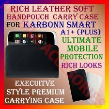 ACM-RICH LEATHER SOFT CARRY CASE for KARBONN SMART A1+ MOBILE HANDPOUCH COVER