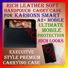 ACM-RICH LEATHER SOFT CARRY CASE for KARBONN SMART A2+ MOBILE HANDPOUCH COVER