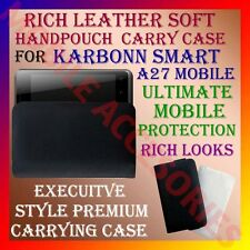 ACM-RICH LEATHER SOFT CARRY CASE for KARBONN SMART A27 MOBILE HANDPOUCH COVER