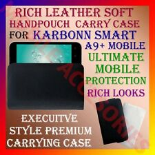 ACM-RICH LEATHER SOFT CARRY CASE for KARBONN SMART A9+ MOBILE HANDPOUCH COVER