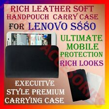 ACM-RICH LEATHER SOFT CARRY CASE LENOVO S880 MOBILE HANDPOUCH COVER POUCH HOLDER