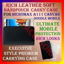 ACM-RICH LEATHER SOFT CARRY CASE MICROMAX A111 CANVAS DOODLE MOBILE COVER POUCH