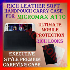 ACM-RICH LEATHER SOFT CARRY CASE MICROMAX SUPERFONE CANVAS 2 A110 COVER POUCH