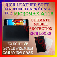 ACM-RICH LEATHER SOFT CARRY CASE MICROMAX SUPERFONE CANVAS 3 A116 COVER POUCH