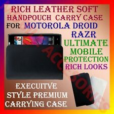 ACM-RICH LEATHER SOFT CARRY CASE MOTOROLA DROID RAZR MOBILE HANDPOUCH COVER NEW
