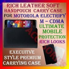 ACM-RICH LEATHER SOFT CARRY CASE MOTOROLA ELECTRIFY M CDMA MOBILE COVER POUCH