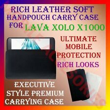 ACM-RICH LEATHER SOFT CARRY CASE of LAVA XOLO X1000 HANDPOUCH COVER POUCH HOLDER