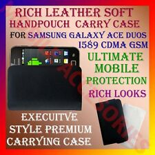 ACM-RICH LEATHER SOFT CARRY CASE SAMSUNG GALAXY ACE DUOS I589 CDMA COVER HOLDER
