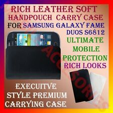 ACM-RICH LEATHER SOFT CARRY CASE SAMSUNG GALAXY FAME DUOS S6812 HANDPOUCH COVER