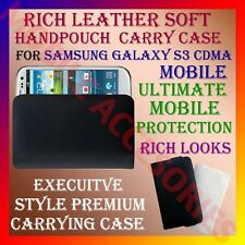 ACM-RICH LEATHER SOFT CARRY CASE SAMSUNG GALAXY S3 CDMA MOBILE HANDPOUCH COVER
