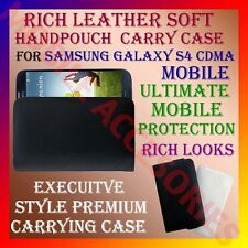 ACM-RICH LEATHER SOFT CARRY CASE SAMSUNG GALAXY S4 CDMA MOBILE HANDPOUCH COVER