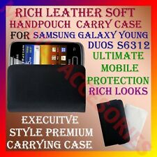 ACM-RICH LEATHER SOFT CARRY CASE SAMSUNG GALAXY YOUNG DUOS S6312 HANDPOUCH COVER