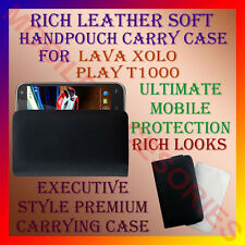 ACM-RICH LEATHER SOFT CARRY CASE LAVA XOLO PLAY T1000 MOBILE HANDPOUCH COVER NEW