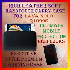 ACM-RICH LEATHER SOFT CARRY CASE LAVA XOLO Q1000S MOBILE HANDPOUCH COVER PROTECT