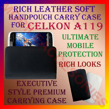 ACM-RICH LEATHER SOFT CARRY CASE CELKON A119 HANDPOUCH COVER POUCH PROTECTION