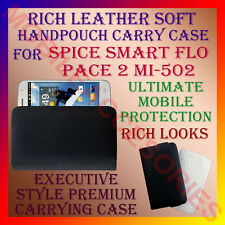ACM-RICH LEATHER SOFT CARRY CASE SPICE SMART FLO PACE 2 MI-502 HANDPOUCH COVER