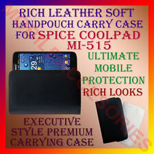ACM-RICH LEATHER SOFT CARRY CASE SPICE COOLPAD MI-515 MOBILE HANDPOUCH COVER NEW