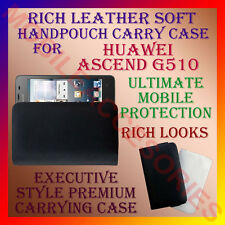 ACM-RICH LEATHER SOFT CARRY CASE for HUAWEI ASCEND G510 MOBILE HANDPOUCH COVER
