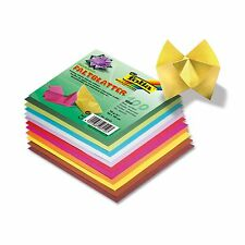 Origami Paper Double Sided Coloured 100 Sheets Square 20x20 15x15 10x10cm Choose