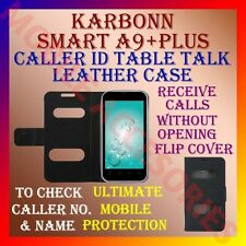 ACM-CALLER ID TABLE TALK CASE for KARBONN SMART A9+ PLUS FLIP FRONT/BACK COVER