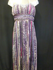 Womens Ladies NEW Multicoloured/Printed Jewel Embellished Maxi Dress (Sizes8-16)