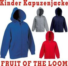 FRUIT OF THE LOOM Sweatshirt Kinder Kapuzen-Jacke  NEU