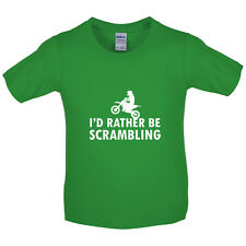 I'd Rather Be Scrambling - Kids / Childrens T-Shirt - Motocross - Motorbike