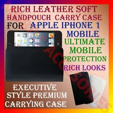 ACM-RICH LEATHER SOFT CARRY CASE for APPLE IPHONE 1 MOBILE HANDPOUCH COVER CASE