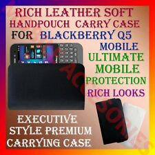 ACM-RICH LEATHER SOFT CARRY CASE for BLACKBERRY Q5 MOBILE HANDPOUCH COVER CASE