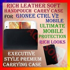 ACM-RICH LEATHER SOFT CARRY CASE for GIONEE CTRL V2 MOBILE HANDPOUCH COVER CASE