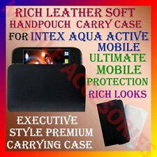 ACM-RICH LEATHER SOFT CARRY CASE for INTEX AQUA ACTIVE MOBILE HANDPOUCH COVER