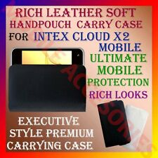 ACM-RICH LEATHER SOFT CARRY CASE for INTEX CLOUD X2 MOBILE HANDPOUCH COVER CASE