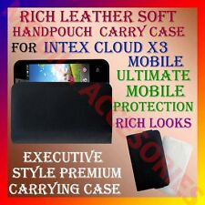 ACM-RICH LEATHER SOFT CARRY CASE for INTEX CLOUD X3 MOBILE HANDPOUCH CASE COVER