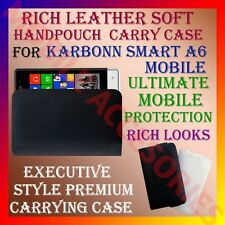 ACM-RICH LEATHER SOFT CARRY CASE for KARBONN SMART A6 MOBILE HANDPOUCH COVER NEW