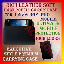 ACM-RICH LEATHER SOFT CARRY CASE for LAVA IRIS PRO MOBILE HANDPOUCH COVER CASE
