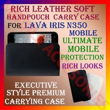 ACM-RICH LEATHER SOFT CARRY CASE for LAVA IRIS N350 MOBILE HANDPOUCH COVER CASE