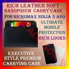 ACM-RICH LEATHER SOFT CARRY CASE for MICROMAX NINJA 5 A89 MOBILE HANDPOUCH COVER